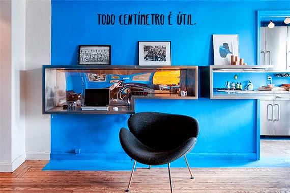 quitinete estilosa - aproveitar espaço - todo centímetro é útil - casa pequena e bonita