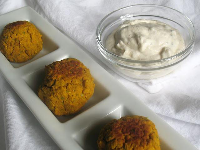 Sweet Potato Chickpea Falafel