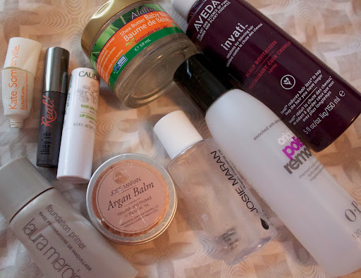 all used up review josie maran argan balm oil cleanser laura mercier primer aveda invati scalp treatment
