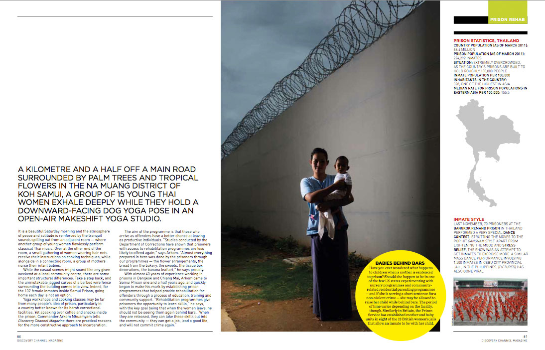 New Spread I Wrote And Shot For Discovery Channel Magazine On Prison Rehabilitation Among Female Inmates At Thailands Ko Samui