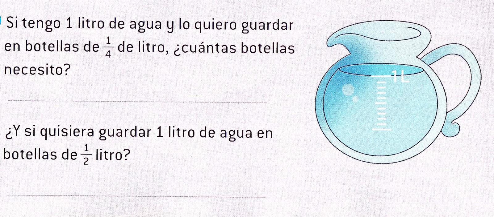 Aula Seño Sory...: Medidas de capacidad. El litro