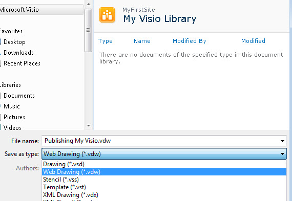 save visio in web drwaing format