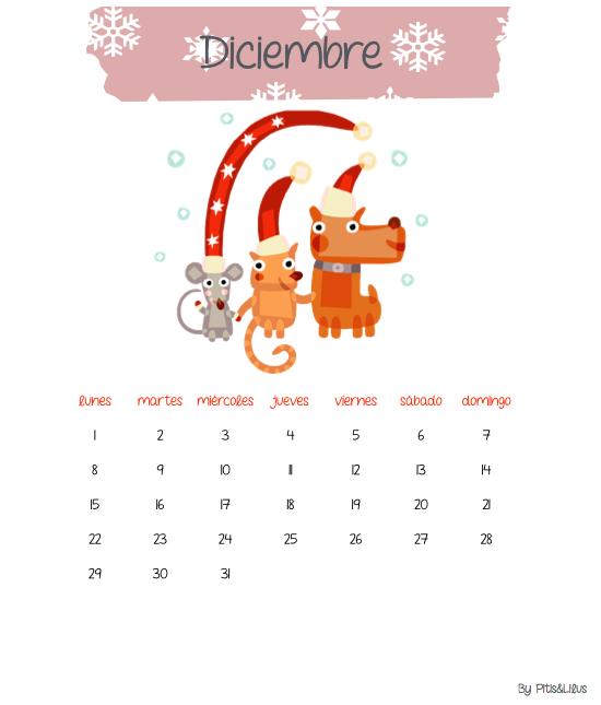 Calendario Diciembre Pitis&Lilus
