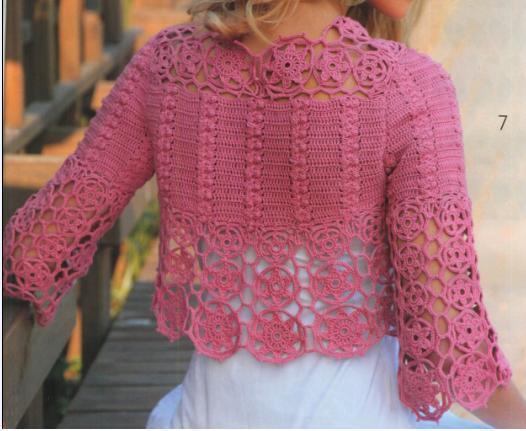 knitting models: new crochet bolero models