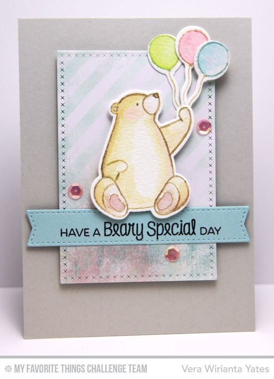 Beary Special Day Card by Vera Wirianta Yates featuring the Birdie Brown Birthday Bears stamp set and DIe-namics and the Blueprints 20 Die-namics