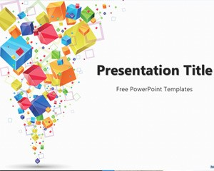 free 3d cubes powerpoint template - free download design graphic, Presentation Template Powerpoint Free Download, Presentation templates