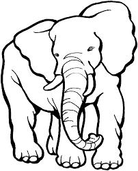 mewarnai gambar gajah untuk anak 11