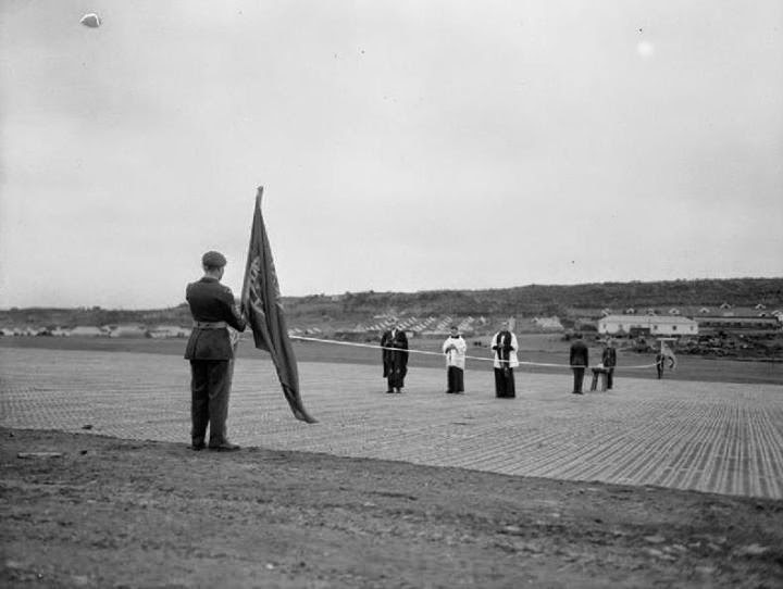 Inauguração da pista das Lajes