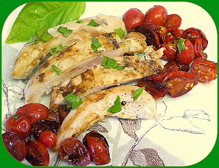 Chicken with Caramelized Tomatoes  from Bizzy Bakes