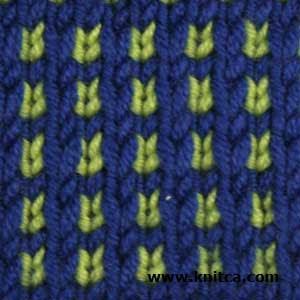 Slip Stitch Knitting Two Colors : knitca: 5 colorful knitting stitch patterns
