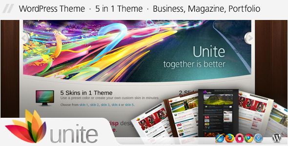 Image for Unite – Business, Magazine 5 in 1 Theme