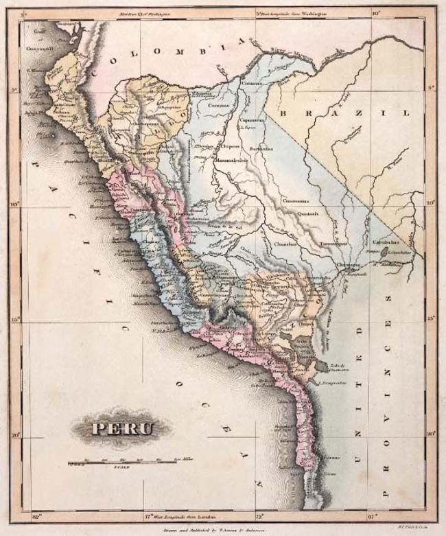 Mapas del per en el siglo xix el per en 1810 1812 1823 1828 a general atlas containing distinct maps of all the known countries in the world constructed from the latest authority b t welch and co sc baltimore gumiabroncs Gallery