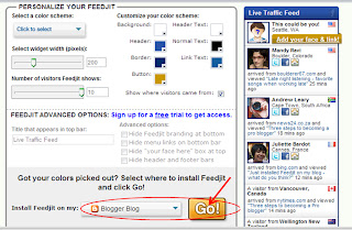 adding fedjit widget to blogger