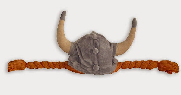 Casco de Peluche Vikingo