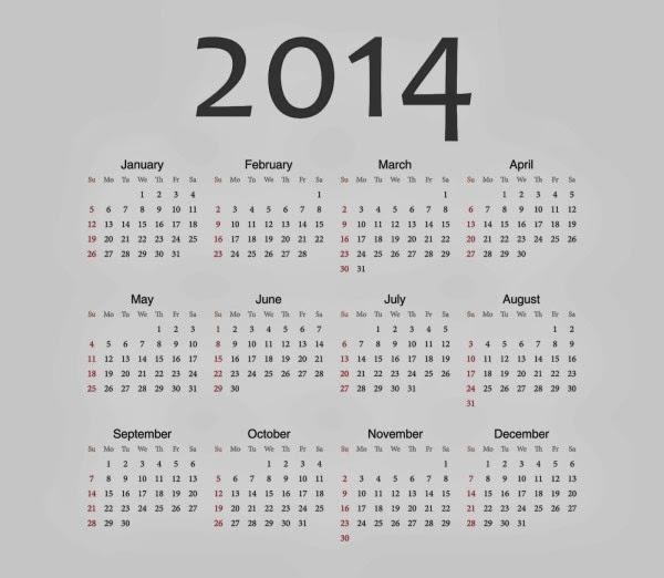 Calendar Designs 2014