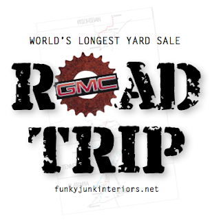 World's Longest Yard Sale 10 - Oh Canada meets Southern Humidity via Funky Junk Interiors