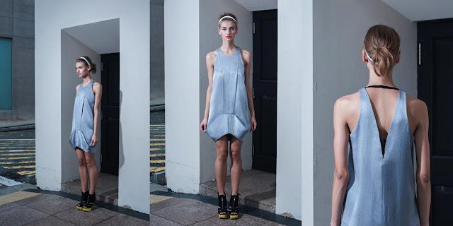 Geometrical dress, grey