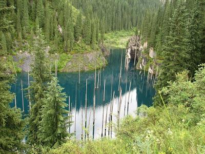 lake kaindy 4%5B3%5D الغابات الغارقة في بحيرة كاندي