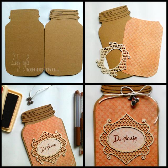 jar shaped card