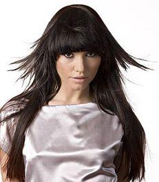 Модні зачіски для довгого прямого