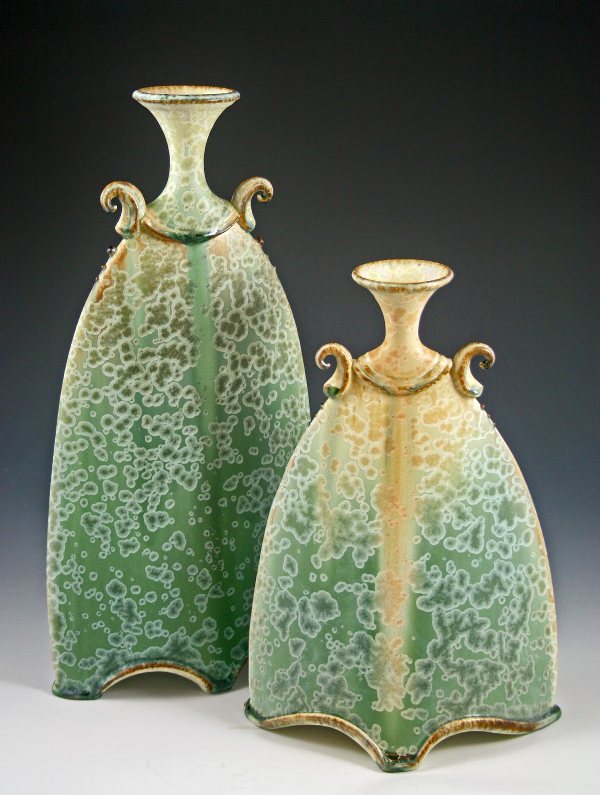 The pottery boys palm harbor artists pursuing second career passions courtly handled vases hand built from slabs reviewsmspy