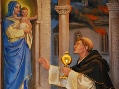 San Jacinto ante la Virgen