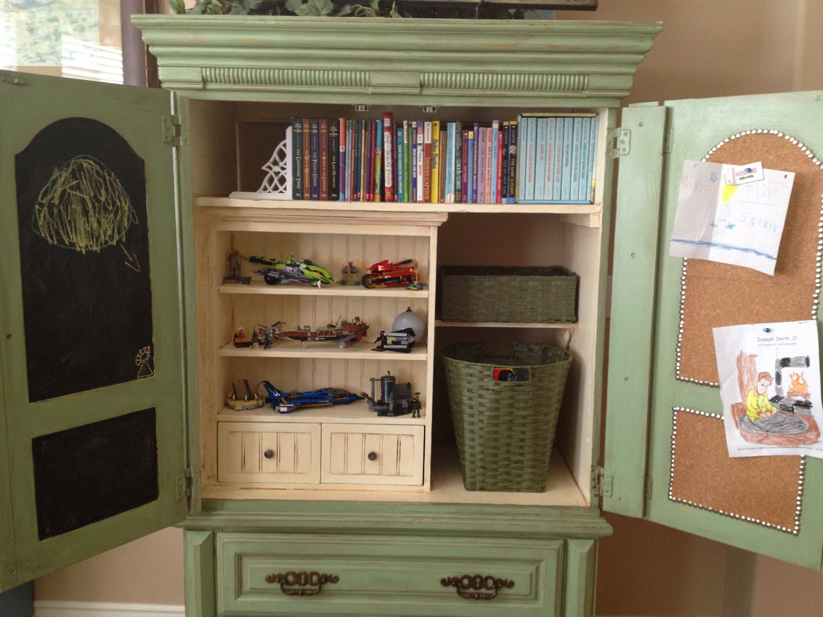 little bit of paint repurposed armoire. Black Bedroom Furniture Sets. Home Design Ideas
