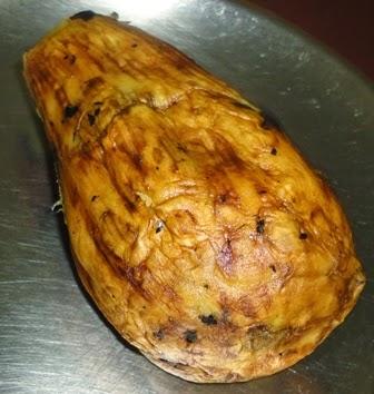 roasted and peeled brinjal