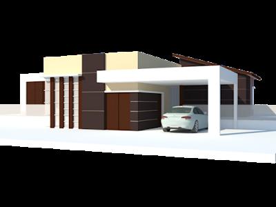 Desain Rumah Mewah 1 Lantai Bergaya Modern Minimalis