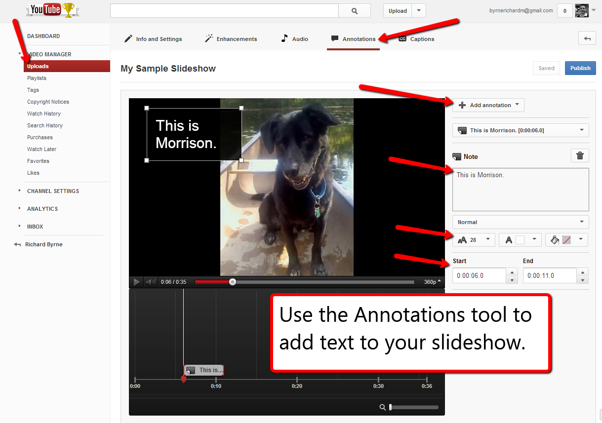 Free technology for teachers how to create youtube photo slideshows