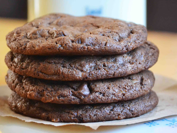 Mocha Toffee Almond Fudge Cookies (Crumbs and Chaos Guest Post(
