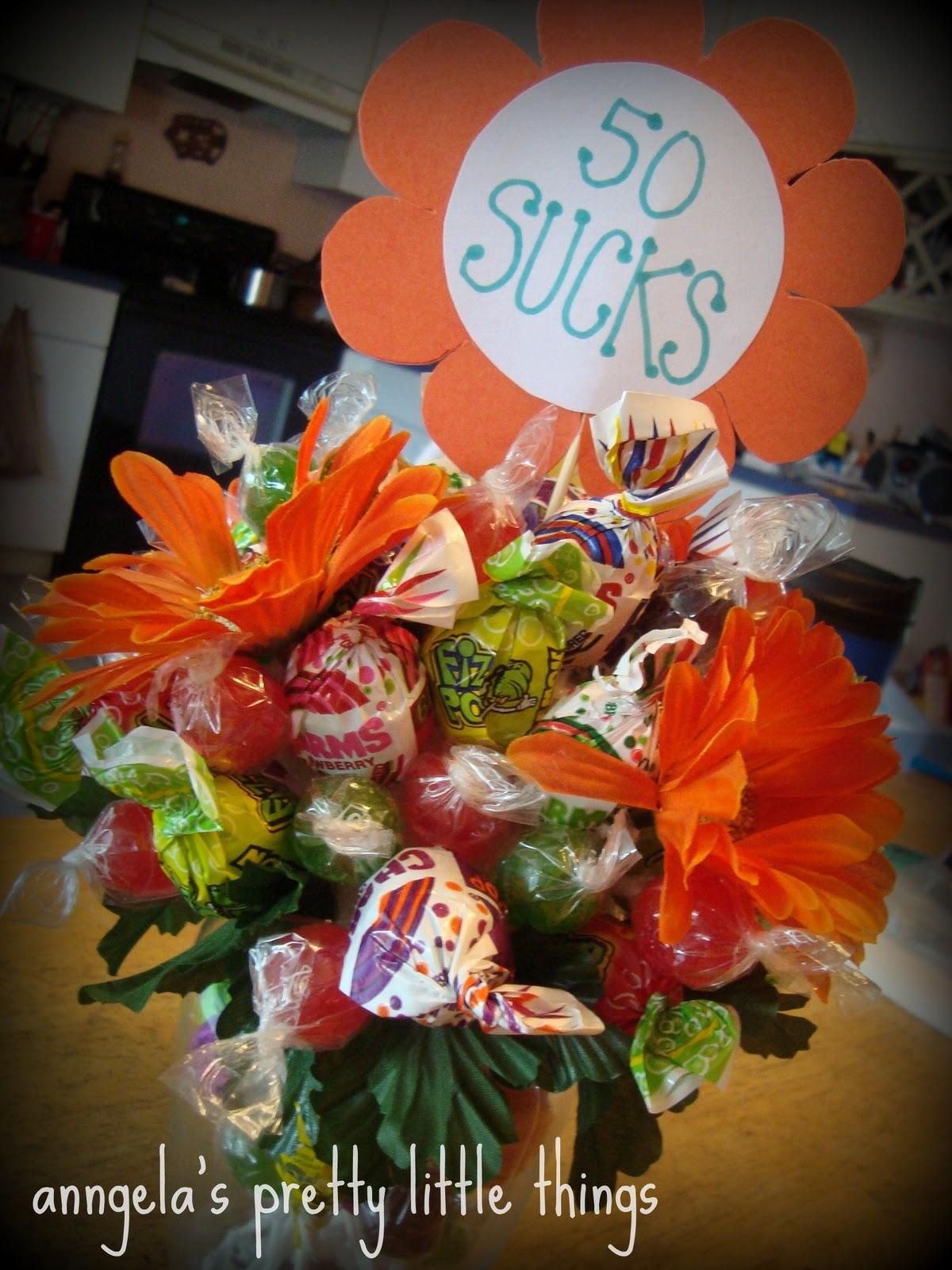 Anngelas Pretty Little Things 50 Sucks Bouquet Gift Tutorial