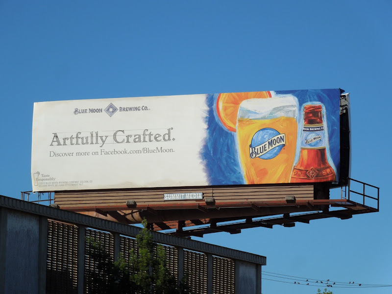 Blue Moon Artfully Crafted beer billboard
