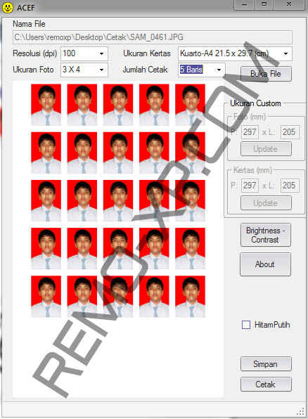 Download Aplikasi / Software Cetak Pas Photo