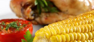 Pollo con Maiz y Cebolla