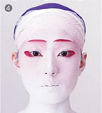 макияж гейша, geisha make up