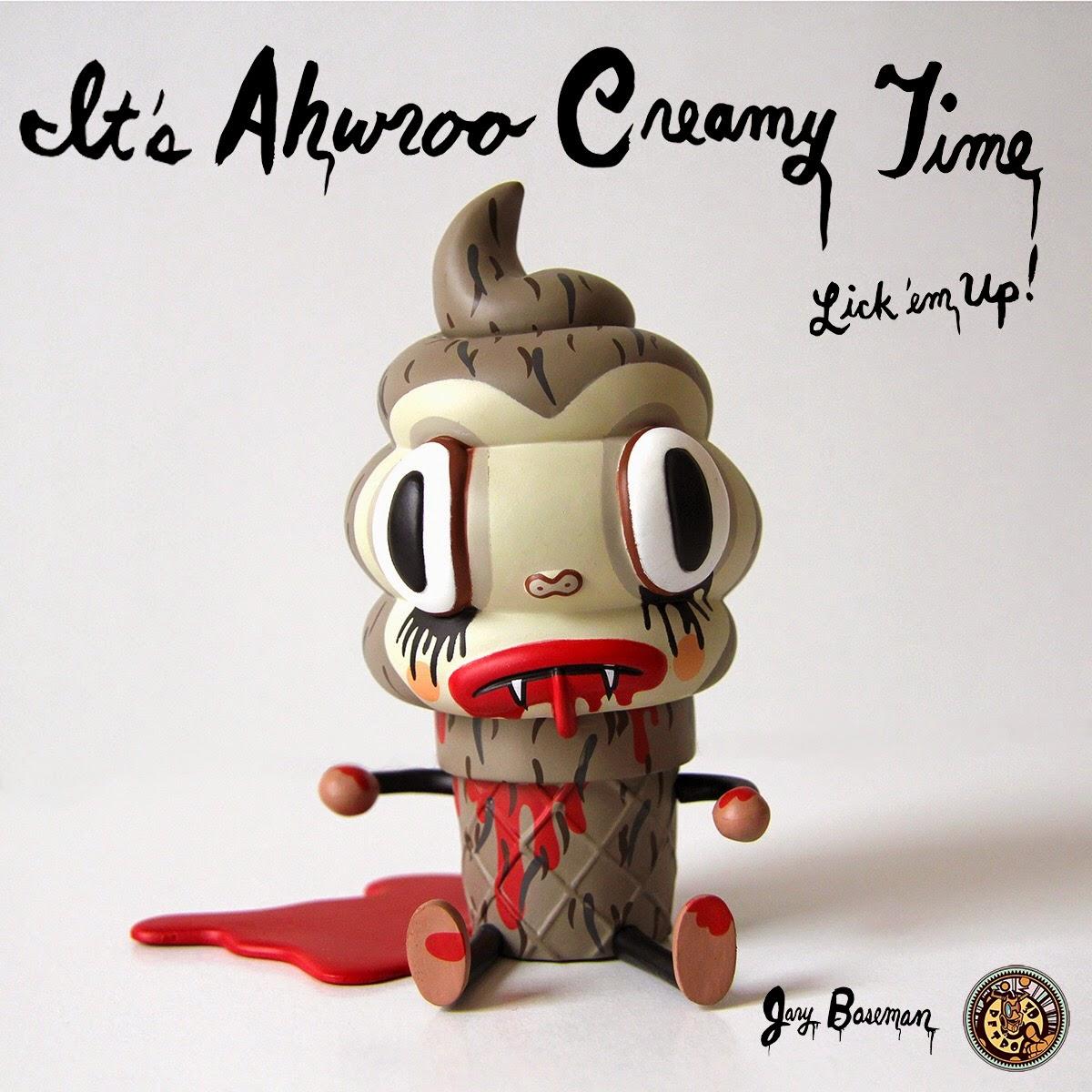 Ahwroo Edition Creamy Vinyl Figure by Gary Baseman