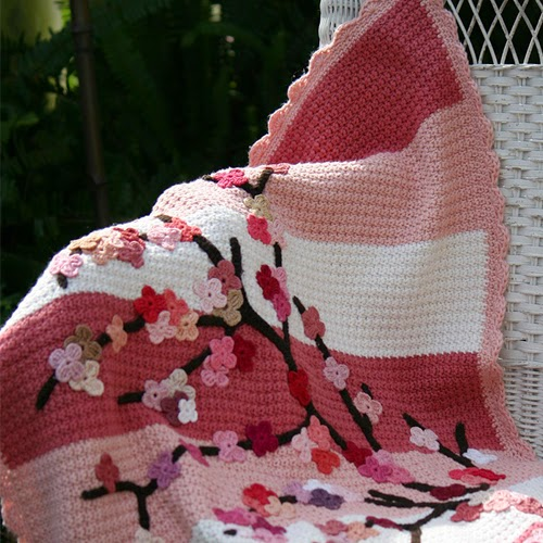 Willow's Cherry Blossom Blanket