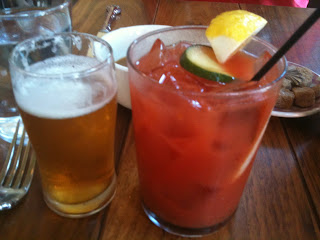 Bloody Mary and beer