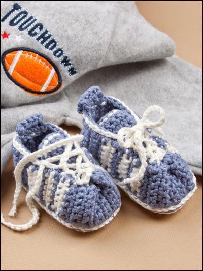 Вязание тапочки на мальчика