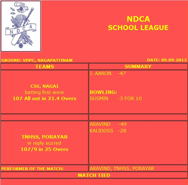 School League - 09.09.2012