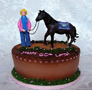 This cake was for a surprise 60th Birthday for a horse lover.