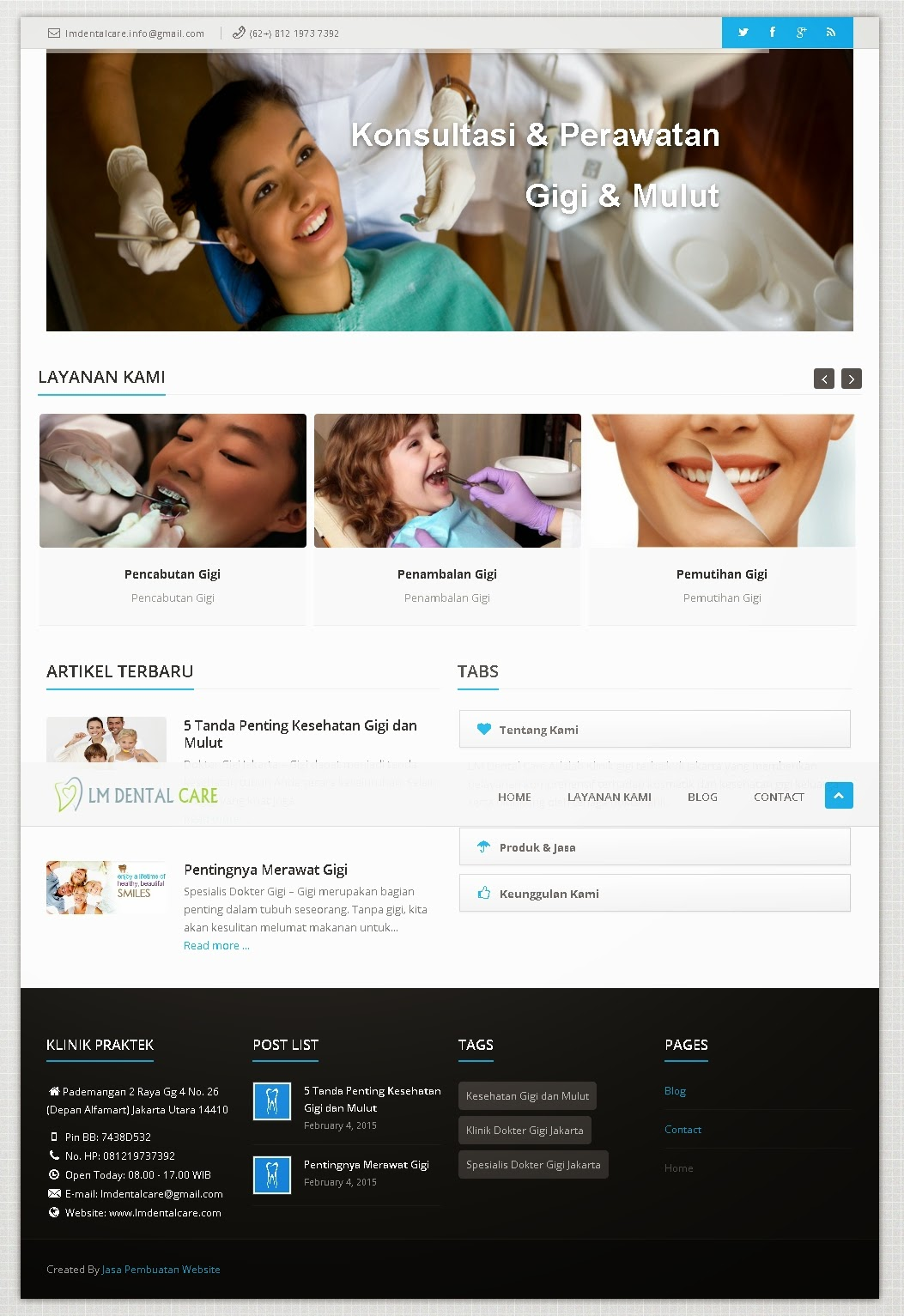 Personal Website Klinik Dokter Gigi