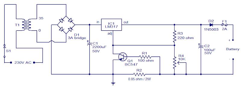 24v  7ah Lead Acid Battery Charger Circuit
