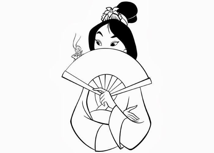 09 16 13 free coloring pages and coloring books for kids for Princess mulan coloring pages