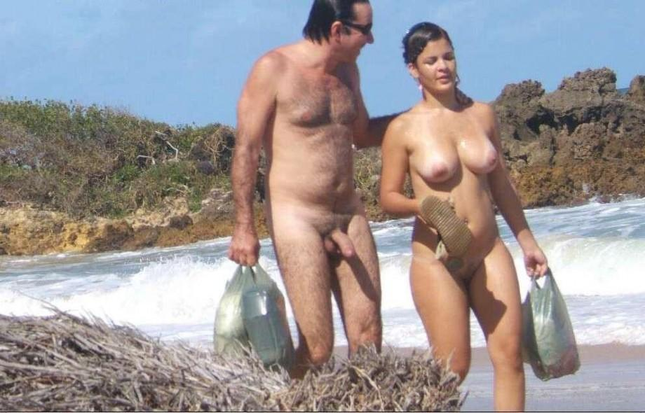 Mature Amateur Wives Handjob On The Beach