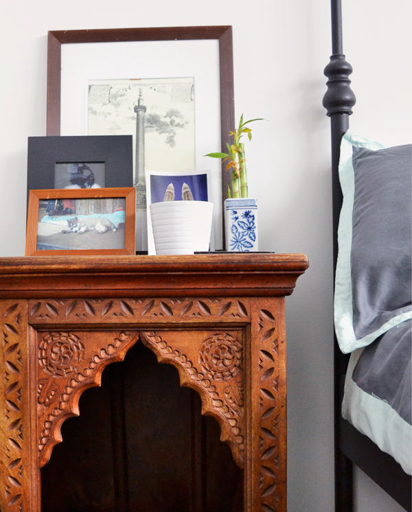 Indian bedside table
