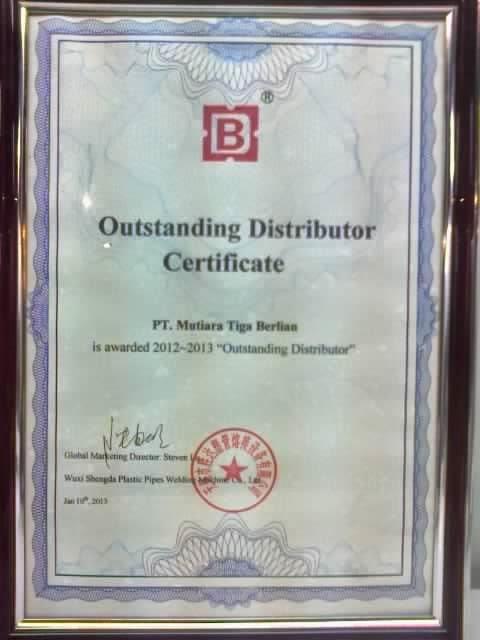 Certificate of Wuxi Shengda