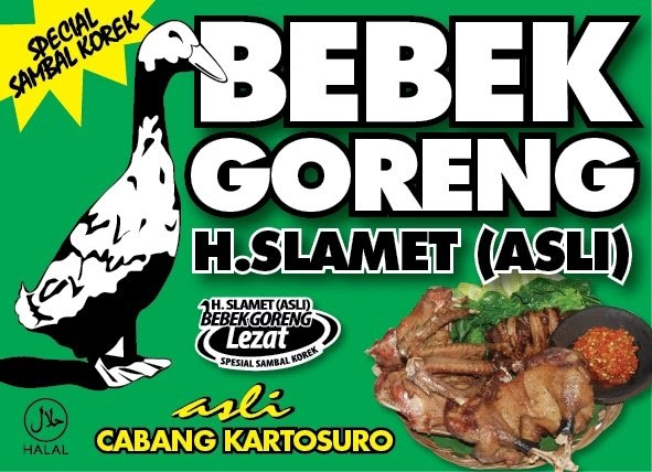 Bebek Goreng Haji Slamet: Sejarah Bebek Goreng H.Slamet