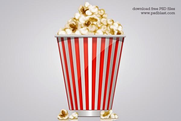 Popcorn Box Icon PSD